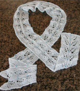 Twin Leaf Beaded Scarf Free Knitting Pattern At Jimmy Beans Wool