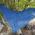 Ocean Waves Shawl by MJ Yarns