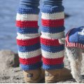 Stitch Mountain - USA Crochet Legwarmers Free Crochet Pattern