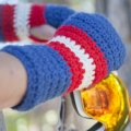 Stitch Mountain - USA Crochet Mitts Free Crochet Pattern