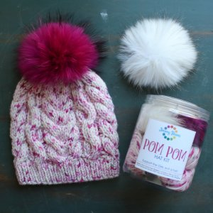 Jimmys Pick - This One's for the Girls: Breast Cancer Awareness Pom Pom Hat Kits!