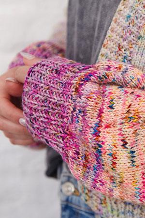 Le Pouf Cardigan Free Knit Pattern at Jimmy Beans Wool