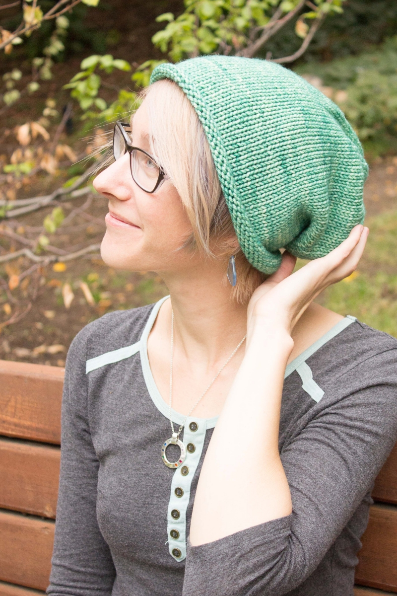 3fd46bf0f73 Erika s Simple Slouchy Hat - Knitting Project Detail at Jimmy Beans Wool