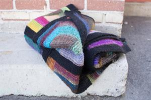 Leslie's Paintbox Log Cabin Blanket