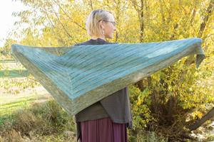 Laura's Stripe Study Shawl