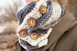 Leanne's Striped One-Way Cowl