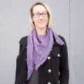 Chris's Decay Shawl in Lorna's