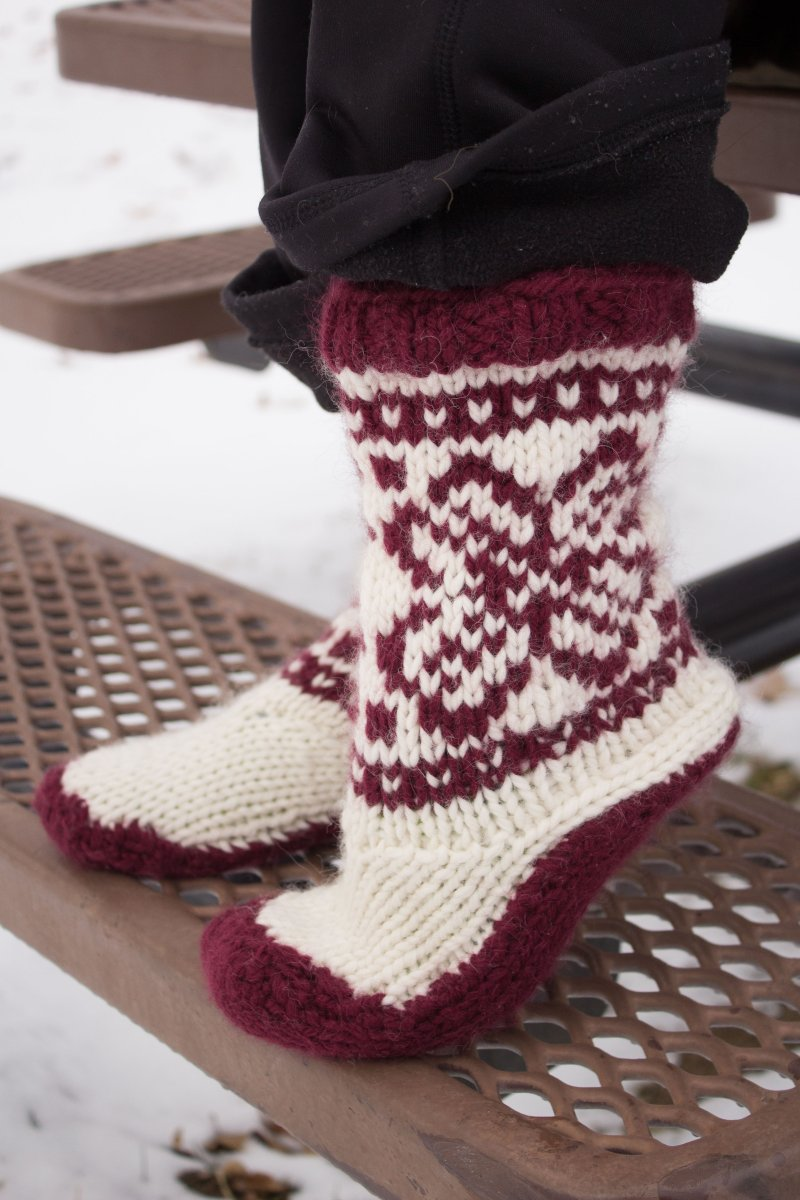 Emma\'s Mukluks - Knitting Project Detail at Jimmy Beans Wool