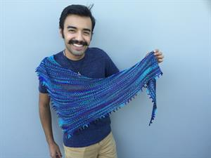 Chris' Star Decay Shawl