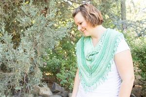 Emma's Green Denim and Blues Cowl