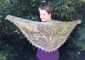 Monika's Crocheted Scottish Voyager Shawl