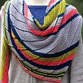 Laura C.'s Cassini Crescent Shawl