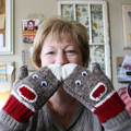 Mindy's Sock Monkey Mitts
