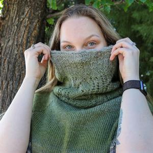 Trendsetter's Cape Style Pullover and Cowl Set