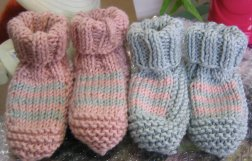 Baby Booties For Twins - FINISHED
