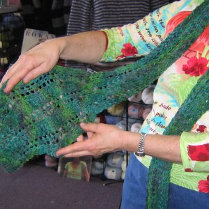 Mountain Colors Ribbon Lace Scarf