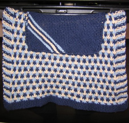 Handknit Cotton Dishtowel