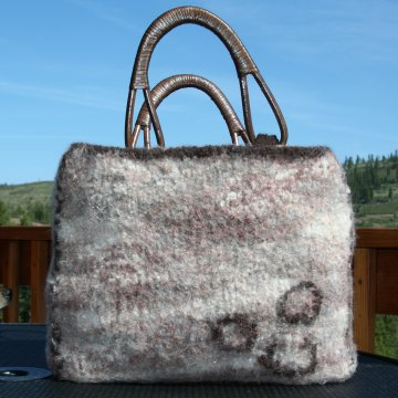 Biggy Print Felted Bag