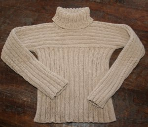 Sweater with Crossways Yoke and Sleeves