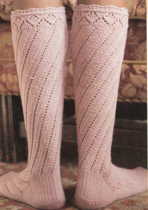 Heather Spiral Boot Socks