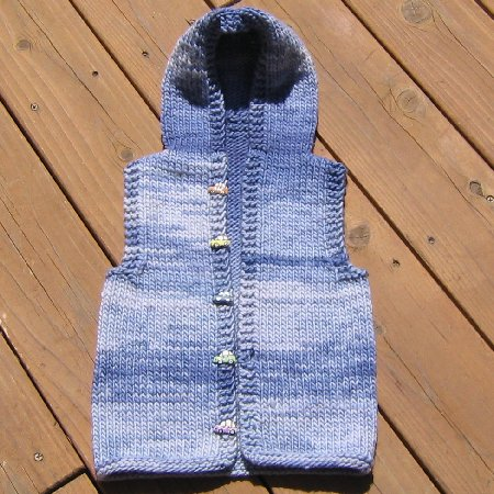 Jimmy's Saphira Hooded Vest for kids!