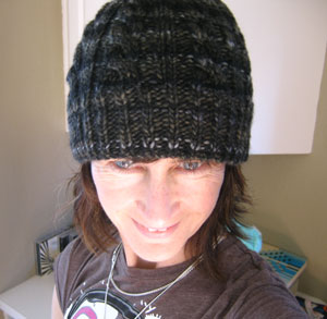 Victoria's Simple Cable Hat