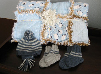 Baby Z's Baby Hat and Booties