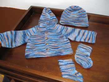 Jacket, Hat and Booties for Huck