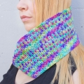 Erika's Crocheted Linen Stitch Cowl