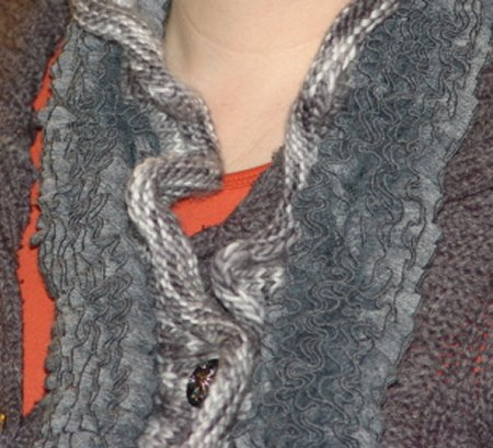 Cha and Malabrigo Scarf