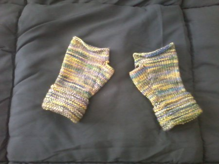 Welted Fingerless Gloves