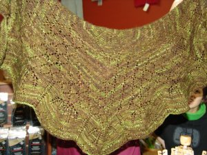 Allie's Orchid Thief Shawl