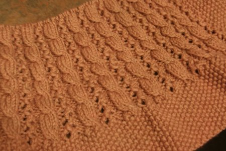 Shevawn's Cable & Lace Blanket