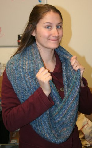 Ann Norling Easy Cowl in Sausalito & Kid Merino