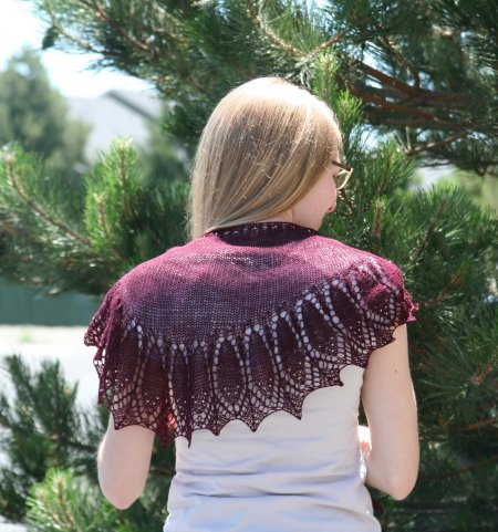 Gina's Indian Feathers Shawl
