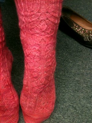 Rachel's Twisted Flower Socks