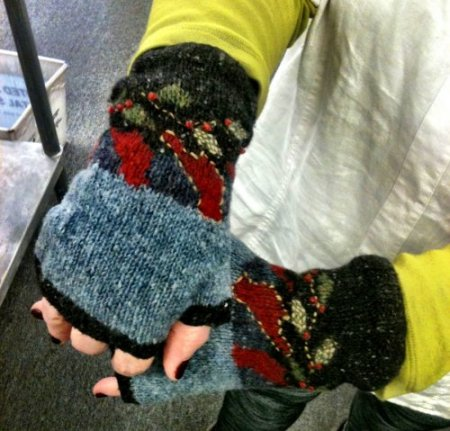 Jeanne's Night Bird Mitts