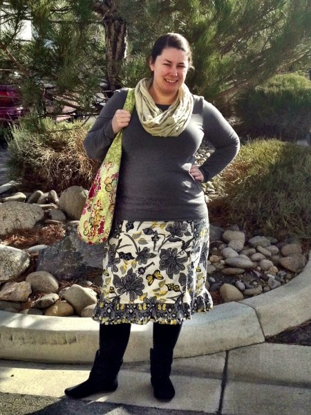 Rachel's Three-Fabric Skirt