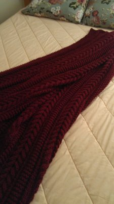 Bonnie's Cable Afghan