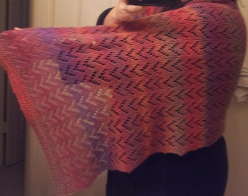 Heather's Ripple Shawl for Grammy Sadie