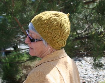Sandy's Lana D'Oro Leaf hat