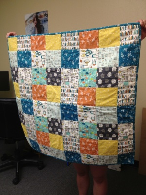 Jeanne's Robotic Fakin' It Baby Quilt