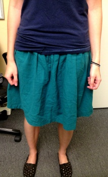 Leanne's Hand Stitched Linen Skirt