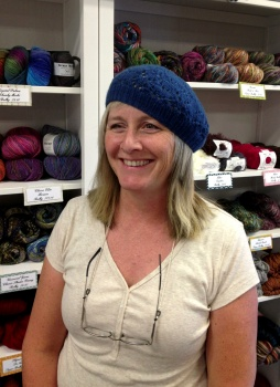 Skye's Ruby Red Heart Hat in Malabrigo Dos