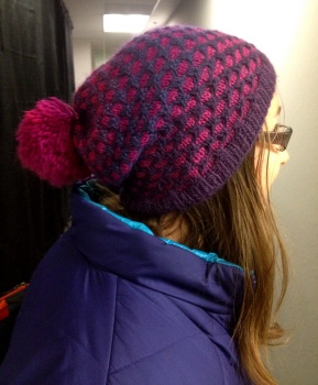 Leanne's Alpaca Colour Honeycomb Stitch Hat
