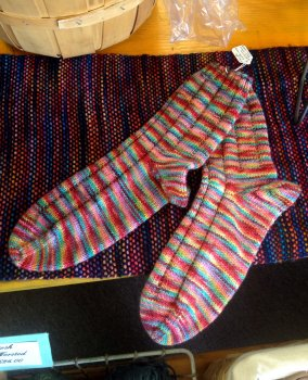 Sara's Technicolor Dreamcoat Socks
