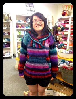 Ailene's Noro Kureyon Hooded Sweater