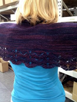 Leanne's Fine Art Crescent Shawl