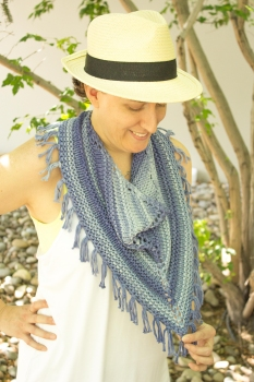 Leanne's Denim & Blues Cowl