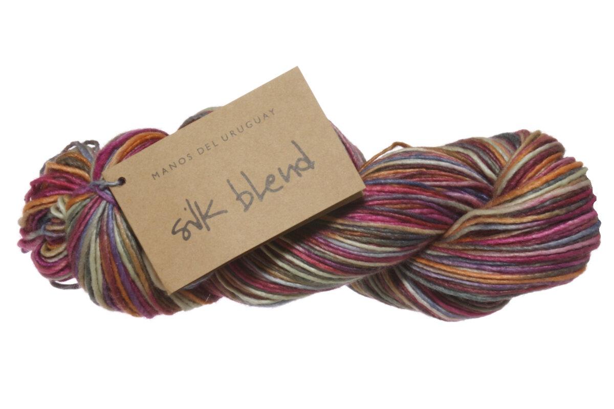 Manos Del Uruguay Silk Blend Multis Yarn 3113 Wildflowers At Jimmy